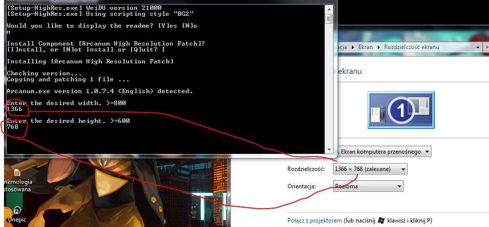 Ustalanie rozdzielczości ekranu w Windows 7