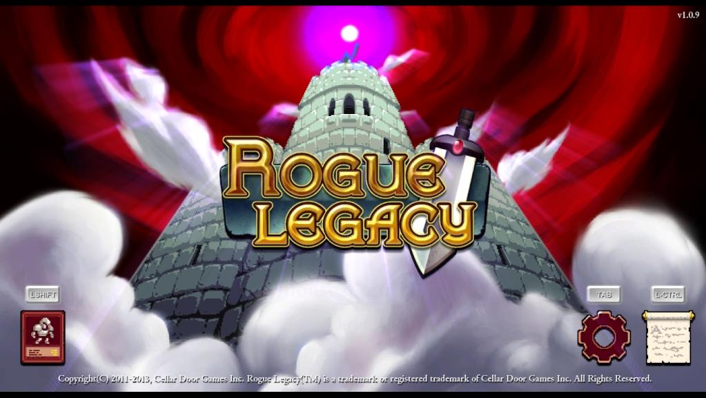 Rogue Legacy - ekran startowy