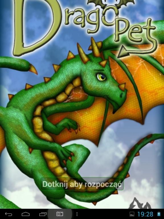 Drago Pet - ekran startowy