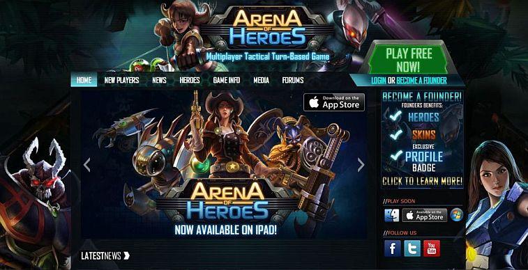Arena Of Heroes - strona główna