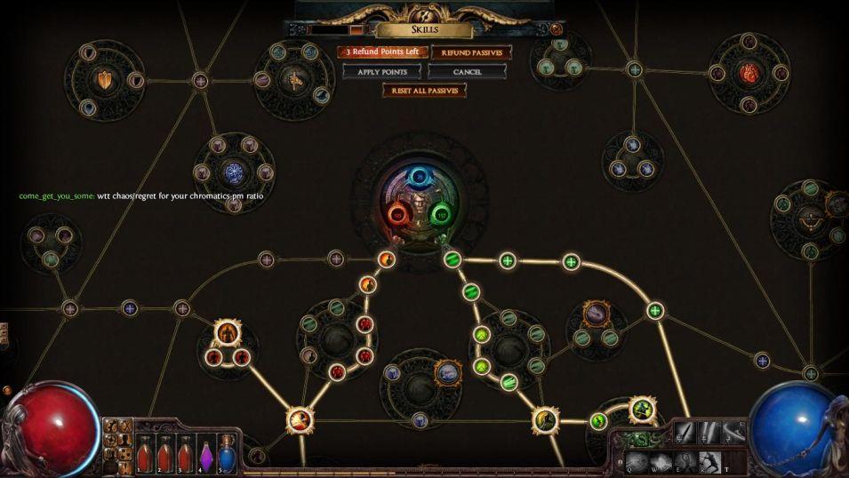 Path Of Exile - drzewo pasywów