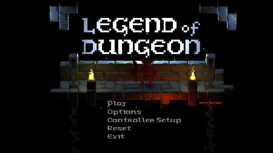 Legend of Dungeon - main menu