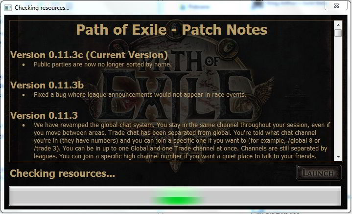 Path of Exile - Launcher