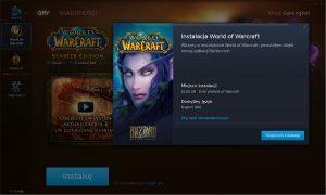 Klient Battle.net - instalacja nowej gry