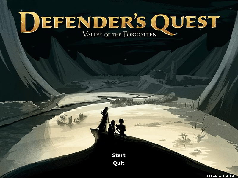 Defender's Quest Main Menu, Tower Defense