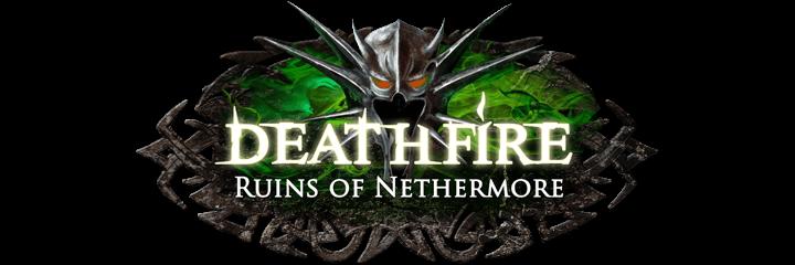 Deathfire, Logo, Kickstarter, RPG, Dungeon Crawler
