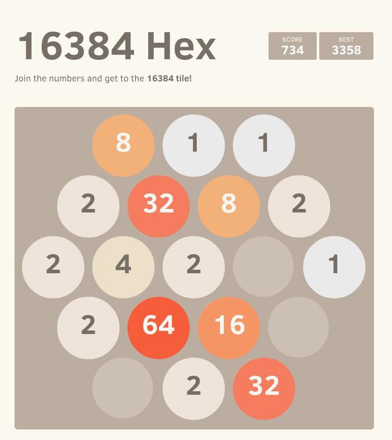 2048 - Mutacja 16384 Hex