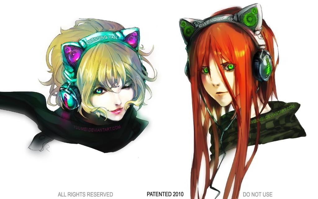 Cat Ear Headphones autorstwa Yuumei. Wszelkie prawa zastrzeżone.