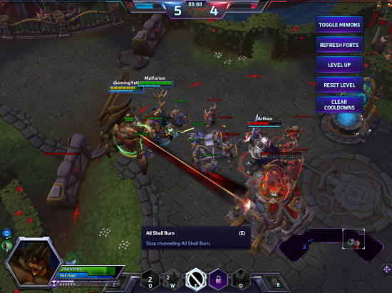 Heroes of The Storm Azmodan test