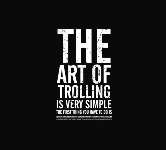 Granie na konsoli trolling as an art