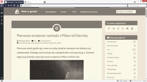 Vivaldi Screenshot Sepia Filter