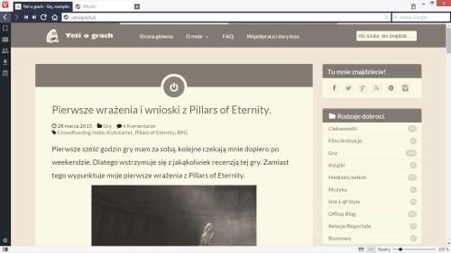 Vivaldi Screenshot Sepia Filter