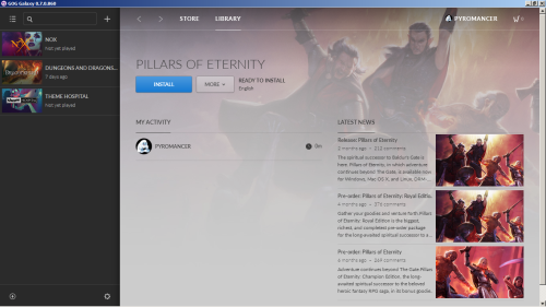 GOG Galaxy Pillars of Eternity