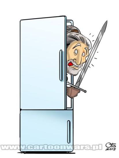 Nie bójcie się. Jak nie macie lodówki, to wyjdzie z szafy. Albo toalety. Autor: Otis. Żródło: Cartoon Wars