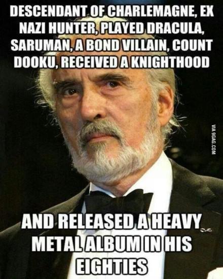 Christopher Lee Saruman Count Dooku Metal Scaramanga Karol Wielki