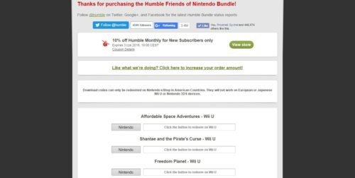Humble Friends of Nintendo Bundle