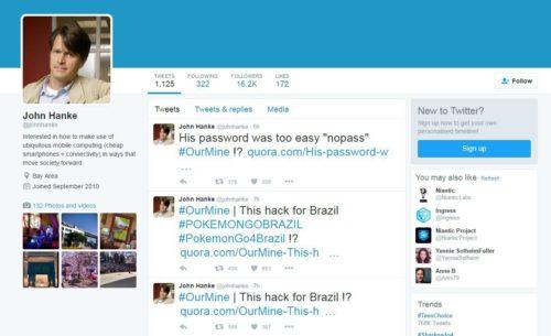 Pokemon GO John Hanke Twitter Hack