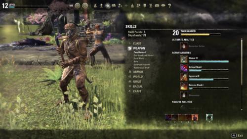 Elder Scrolls Online Umiejętności