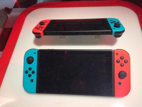 Nintendo Switch pokaz prasowy kolorowe joycony