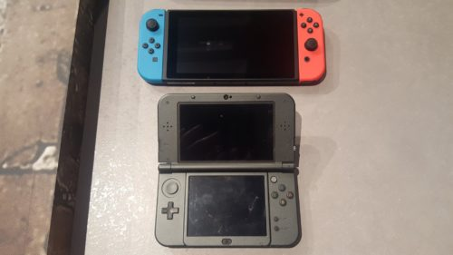 Nintendo Switch vs N3DS XL