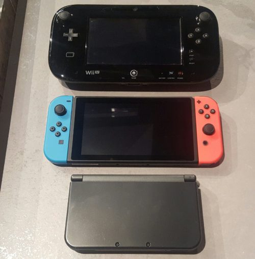 Nintendo Switch vs N3DS XL vs WiiU Gamepad