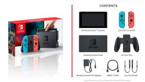 Nintendo Switch zawartość zestawu startowego
