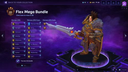 Heroes of The Storm Flex Bundle