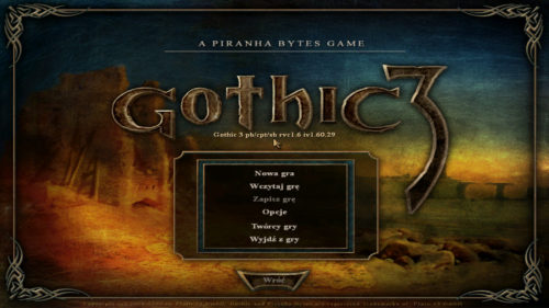 Gothic 3 Enhanced Edition Menu Główne