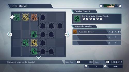 Fire Emblem Warriors Drzewo rozwoju