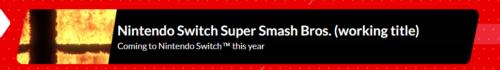 Super Smash Bros Nintendo Direct