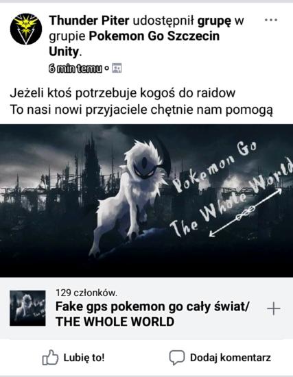 Spoofing w Pokemon GO