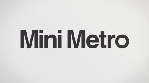 Mini Metro ekran ładowania