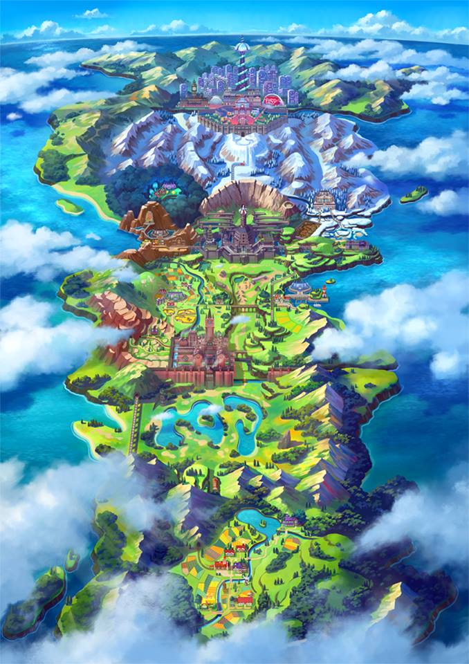 Pokemon Sword Shield Mapa