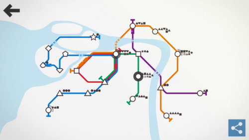 Mini metro, skomplikowana siatka metra