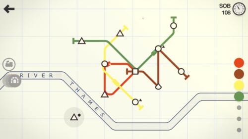 Mini metro metro na początku w miarę.