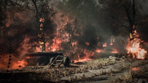 Chernobylite pożar obozu