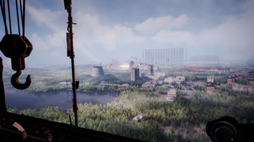 Chernobylite pejzaż