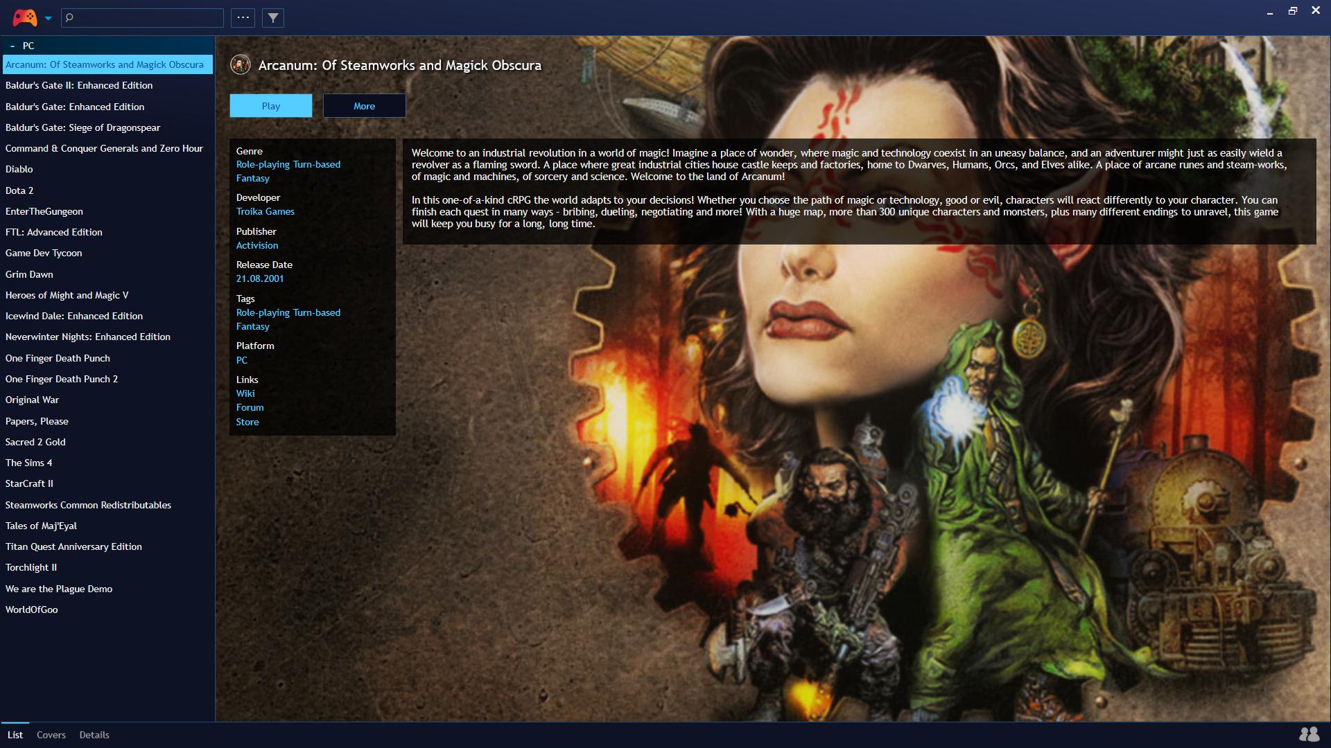 Playnite - launcher wszystkich gier - w oczekiwaniu na GOG