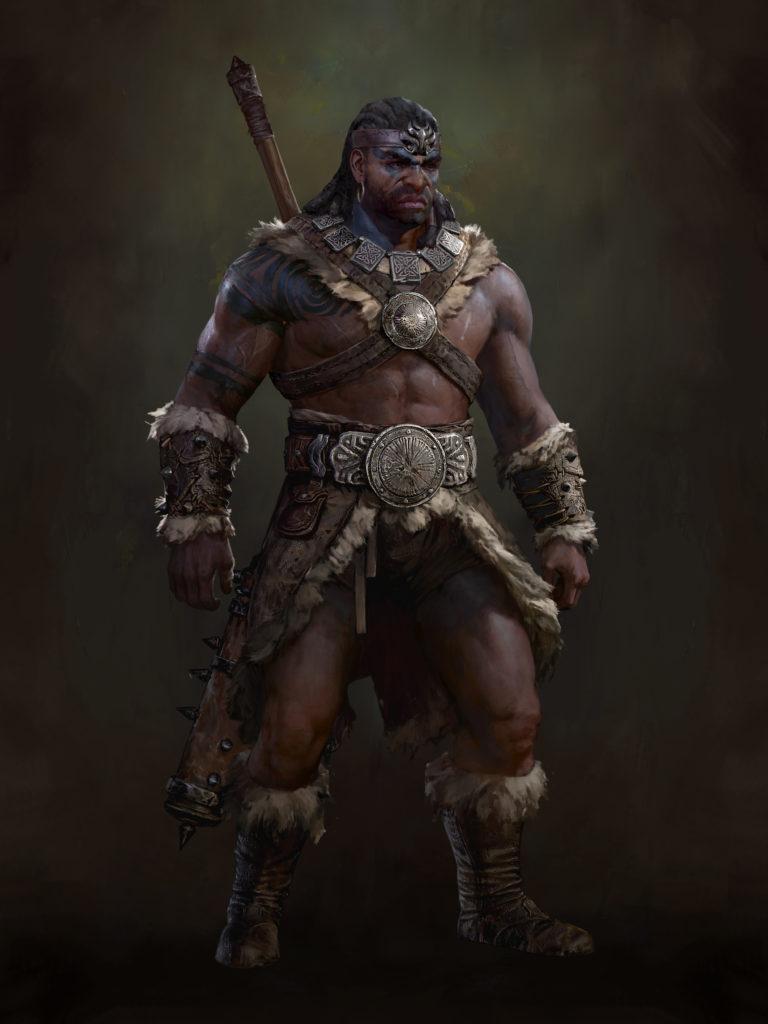Barbarian Diablo 4 Concept Art