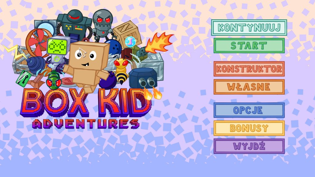 Box Kid Adventures Menu Główne
