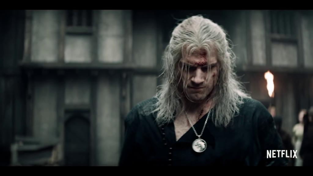 Wiedźmin Geralt zakrwawiony