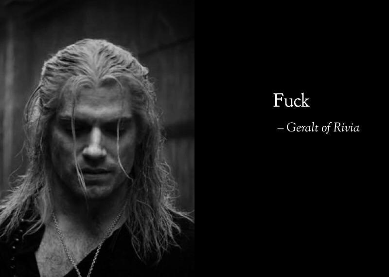 Wiedźmin Geralt says fuck
