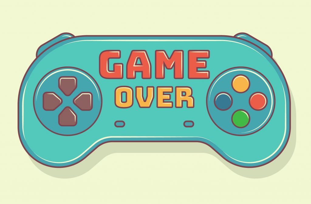 Retrogaming game over