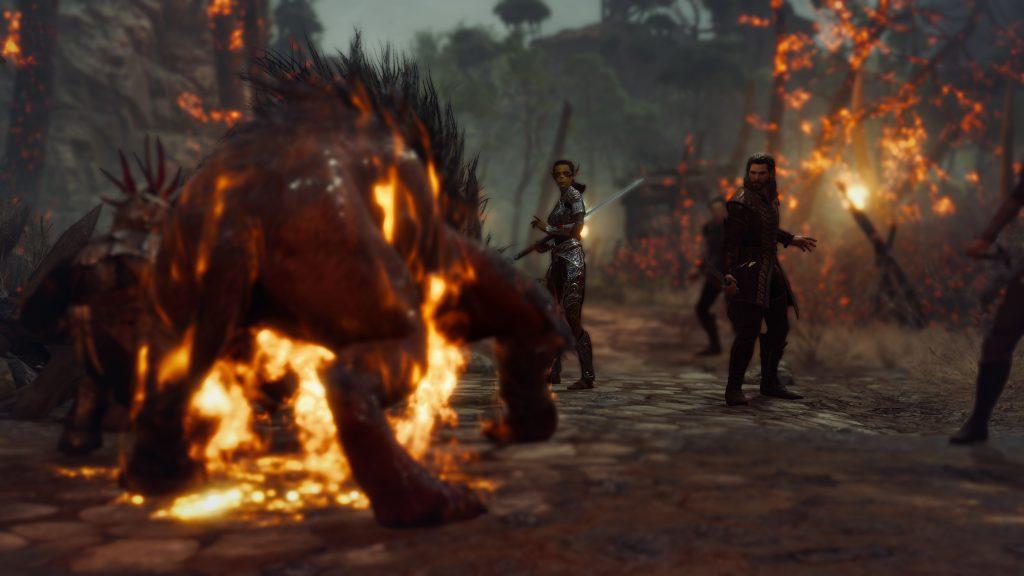 Baldur's Gate 3 walka z bydlakiem