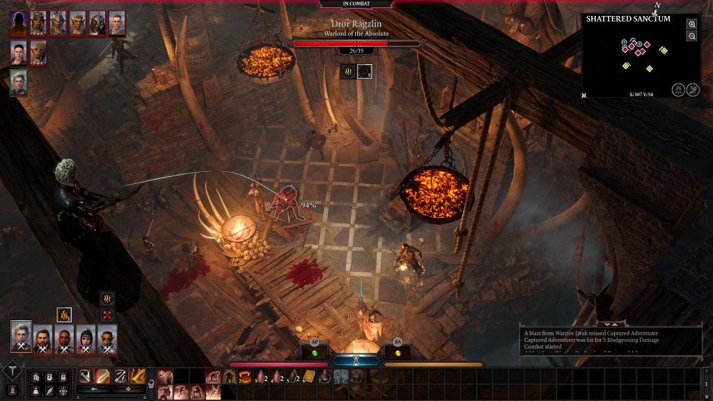 Baldur's Gate 3 walka turowa