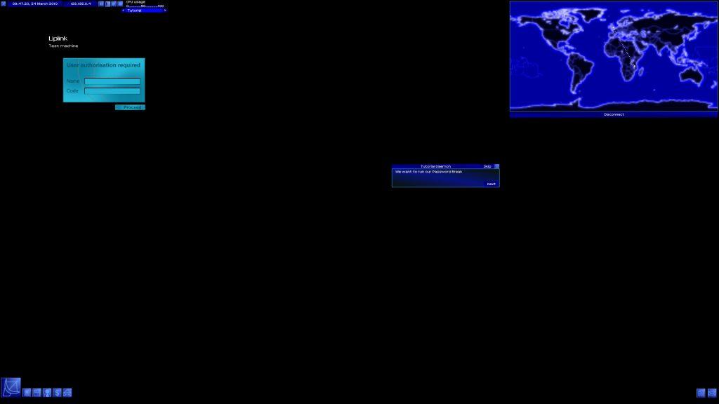 Uplink - logowanie do jakiegoś komputera