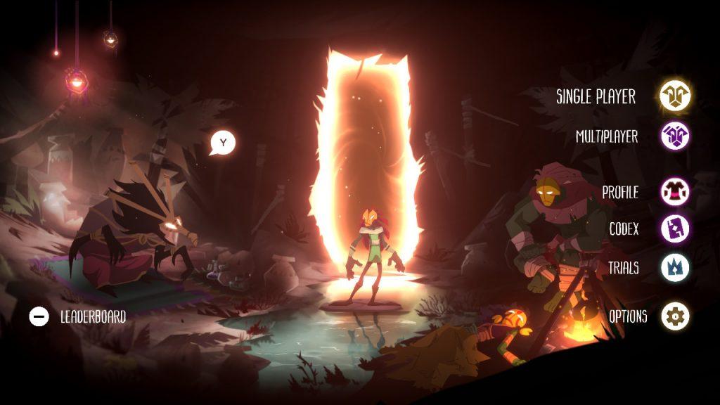 Towaga: Among Shadows menu główne