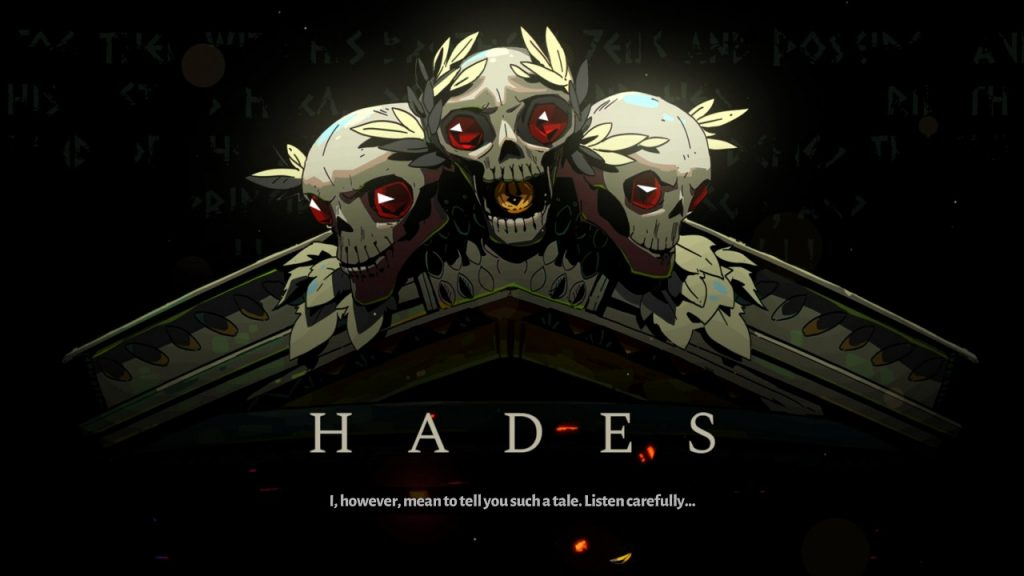Hades ekran początkowy