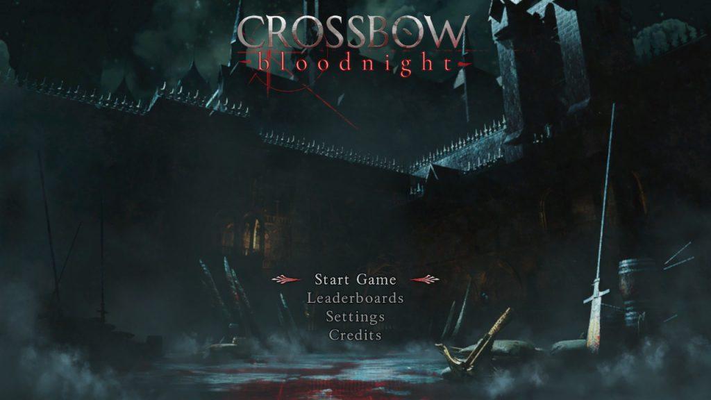 Crossbow: Bloodnight main menu